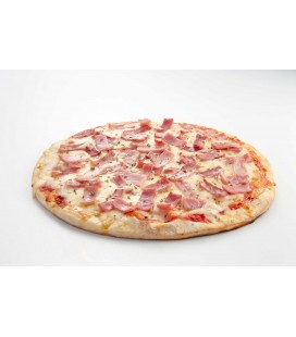 Pizza jamón y queso
