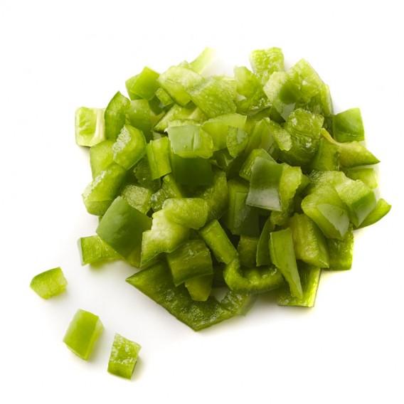 Pimiento verde 10 x 10 mm