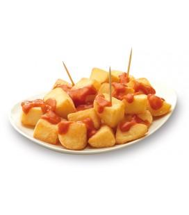 Patatas prefritas bravas