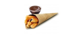 Churros rellenos con crema al cacao
